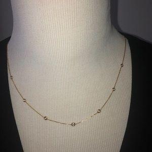 Ross Simons 14K Gold Diamond Station Necklace